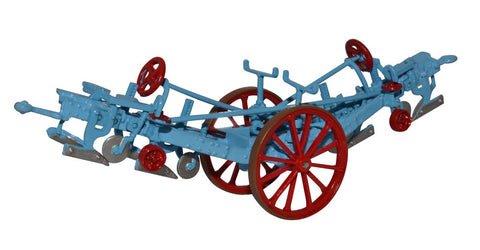 Oxford Diecast Fowler Plough Blue Red