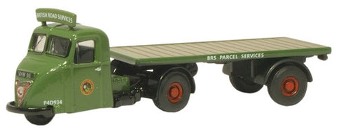 Oxford Diecast BRS Parcels Scammell Scarab Flatbed Trailer - 1:76 Scal