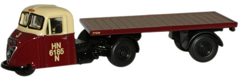 Oxford Diecast British Railways Scammell Scarab Flat - 1:76 Scale