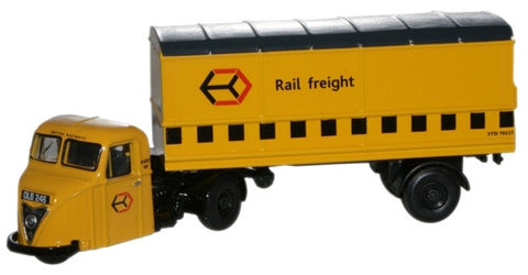 Oxford Diecast Railfreight Yellow Scammell Scarab Van Trailer - 1:76 S