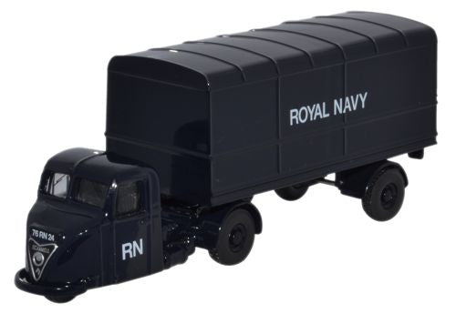 Oxford Diecast Scammell Scarab Van Trailer Royal Navy - 1:76 Scale