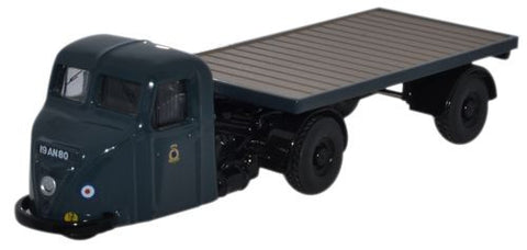 Oxford Diecast Scammell Scarab Flatbed Trailer RAF - 1:76 Scale