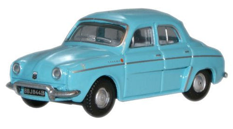 Oxford Diecast Light Blue Renault Dauphine - 1:76 Scale