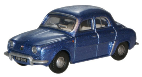 Oxford Diecast Metallic Blue Renault Dauphine - 1:76 Scale