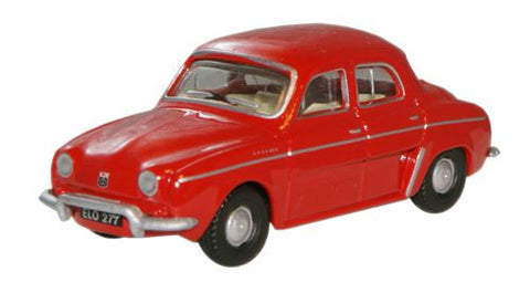 Oxford Diecast Red Renault Dauphine - 1:76 Scale