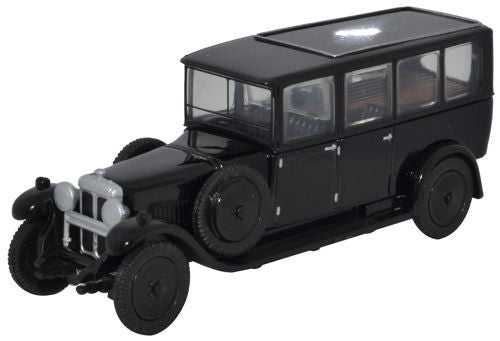 Oxford Diecast Daimler Hearse Black - 1:76 Scale