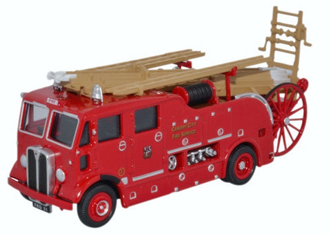 Oxford Diecast AEC Regent Pump Escape Cardiff City Fire Service