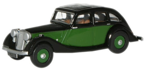 Oxford Diecast Green/Black Riley Kestrel - 1:76 Scale