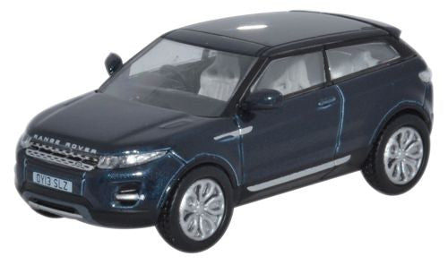 Oxford Diecast Range Rover Evoque 2 Door Coupe Baltic Blue - 1:76 Scal