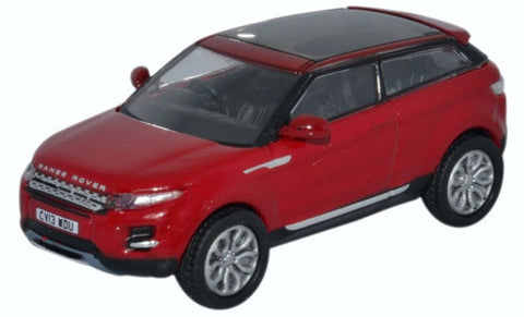 Oxford Diecast Range Rover Evoque Firenze Red