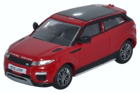 Oxford Diecast Range Rover Evoque Coupe Facelift Firenze Red