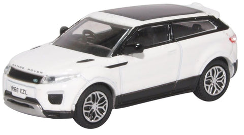 Oxford Diecast Range Rover Evoque Coupe Facelift Fuji White