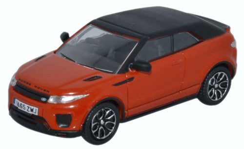 Oxford Diecast Range Rover Evoque Convertible Phoenix Orange