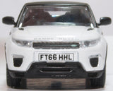 Oxford Diecast Range Rover Evoque Convertible Fuji White