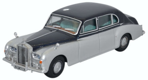 Oxford Diecast Rolls Royce Phantom V Navy Silver