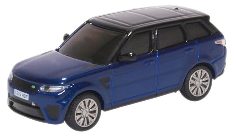Oxford Diecast Range Rover Sport SVR Estoril Blue