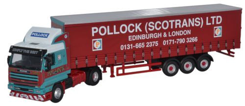 Oxford Diecast Scania 143 40ft Curtainside Pollock - 1:76 Scale