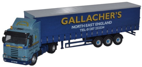 Oxford Diecast Scania 113 40ft Curtainside Gallacher Bros - 1:76 Scale