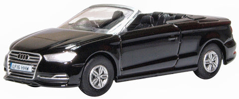 Oxford Diecast Audi S3 Cabriolet Mythos Black 1:76 Scale