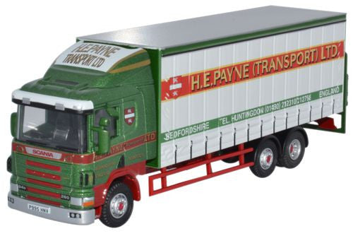 Oxford Diecast Scania 94D Curtainside H E Payne - 1:76 Scale
