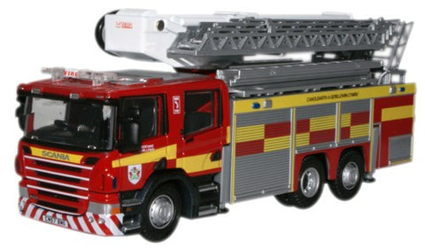 Oxford Diecast Scania Aerial Rescue Pump Mid & West Wales F & R Servic