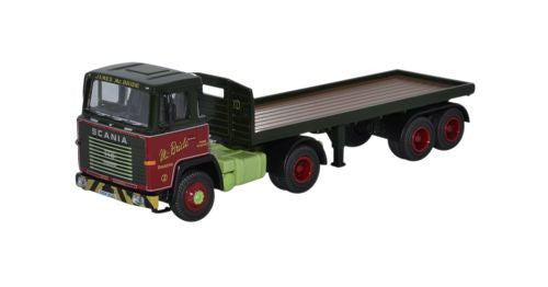 Oxford Diecast Scania 110 Flatbed Trailer James McBride - 1:76 Scale
