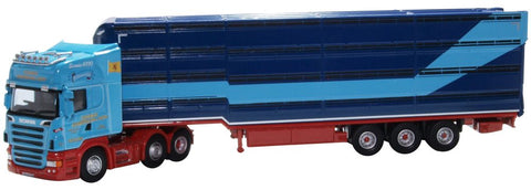 Oxford Diecast Scania Houghton Professional Livestock Transporter