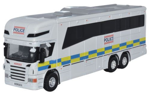 Oxford Diecast Scania Horsebox Police - 1:76 Scale