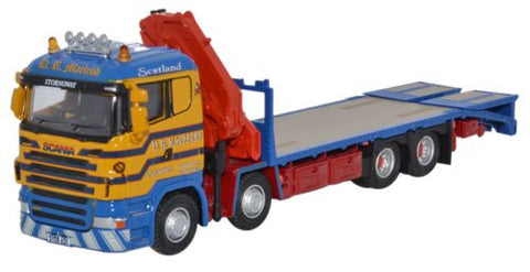 Oxford Diecast Scania Crane Lorry D R Macleod - 1:76 Scale