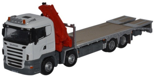 Oxford Diecast Scania Crane Lorry White - 1:76 Scale