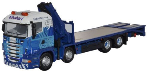 Oxford Diecast Scania Crane Lorry Eddie Stobart - 1:76 Scale