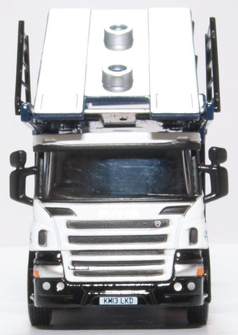 Oxford Diecast Scania Car Transporter Robinsons Autologistics