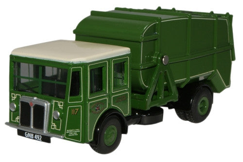 Oxford Diecast Manchester Corp Shelvoke & Drewry Dustcart - 1:76 Scale