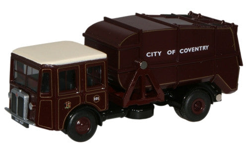 Oxford Diecast Coventry Shelvoke & Drewry Dustcart - 1:76 Scale