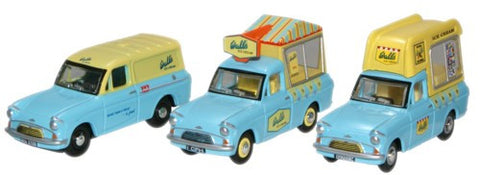 Oxford Diecast Triple Ice Cream Set - 1:76 Scale
