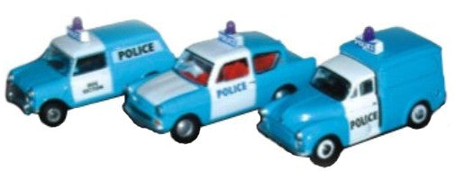 Oxford Diecast Triple Police Set - 1:76 Scale