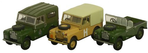 Oxford Diecast Triple Landrover - 1:76 Scale