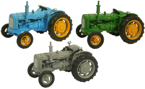 Oxford Diecast Triple Tractor Set