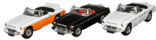 Oxford Diecast Lancashire Police MGB Roadster Set (3) - 1:76 Scale