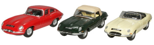 Oxford Diecast E  Type Triple Set - 1:76 Scale