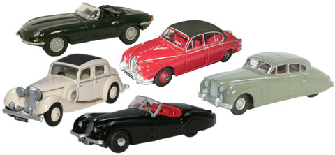 Oxford Diecast 5 Piece Jaguar Collection