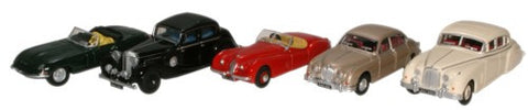 Oxford Diecast 5 piece Jaguar Collection - 1:76 Scale - OxfordDiecast