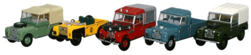 Oxford Diecast 5 Piece Land Rover Collection - 1:76 Scale