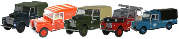 Oxford Diecast Land Rover 5 Piece Set Modelzone - 1:76 Scale