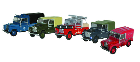 Oxford Diecast Land Rover 5 piece Set - 1:76 Scale