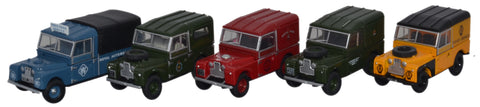 Oxford Diecast Land Rover Set - 1:76 Scale