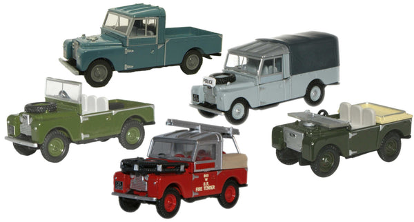 Oxford Diecast Land Rover 5 Piece Set