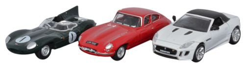 Oxford Diecast Jaguar Sports Car Set D E F Types - 1:76 Scale