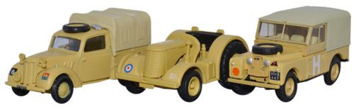Oxford Diecast 3 Piece Set - Tilly, David Brown Tractor and Land Rover - OxfordDiecast
