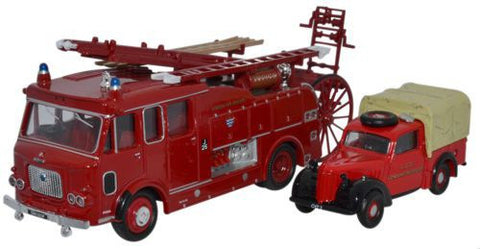 Oxford Diecast London Fire Set _Dennis F106 and Austin Tilly - 1:76 Sc